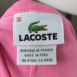 Lacoste Dresses - Lacoste classic pique pink halter dress
